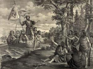 Columbus at San Salvador